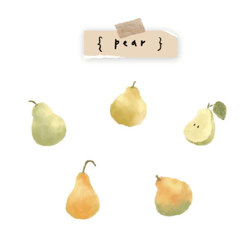 插畫小教室 Lesson 1|水彩梨子插畫
